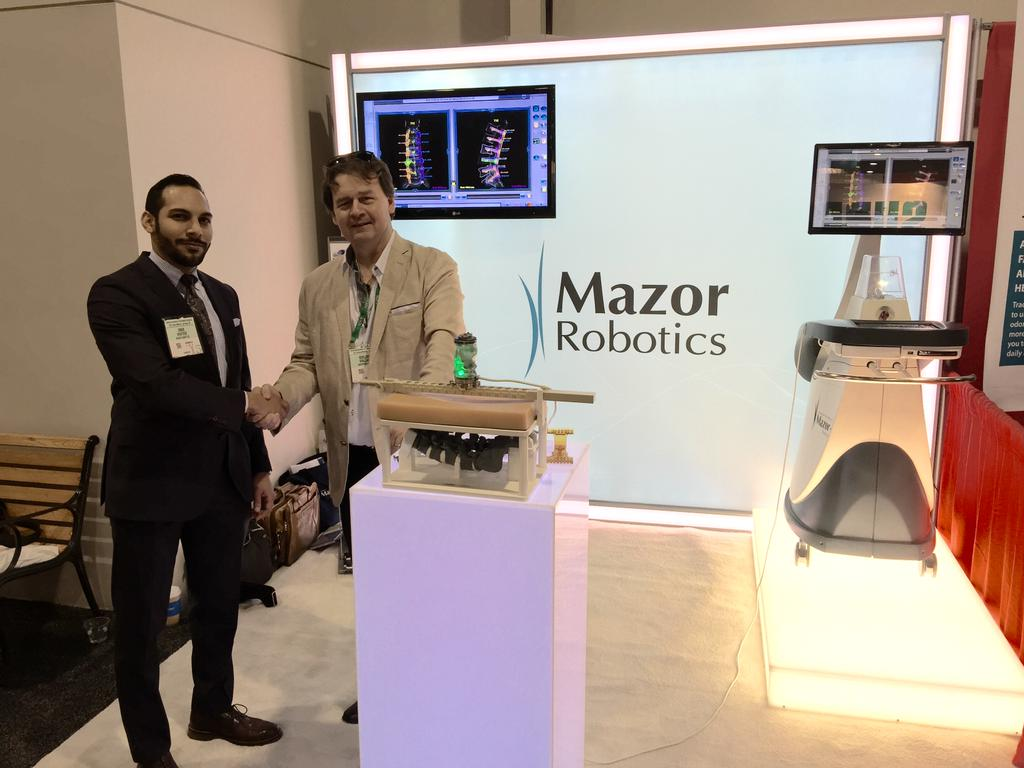 Mazor Robotics wins a $42M partnership and equity deal with Medtronic