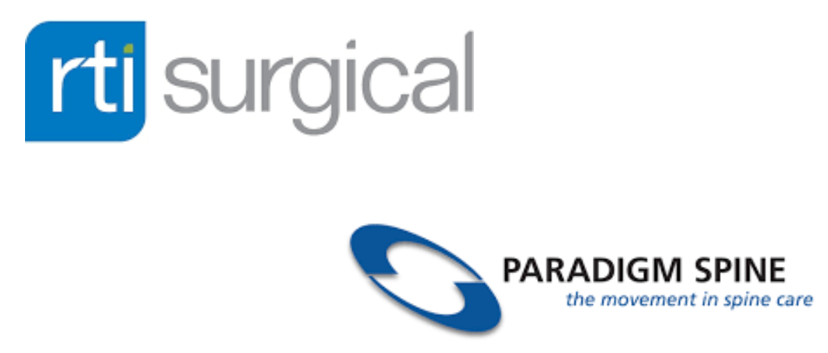 RTI Surgical acquires Paradigm Spine for $300M (7.5 X sales)