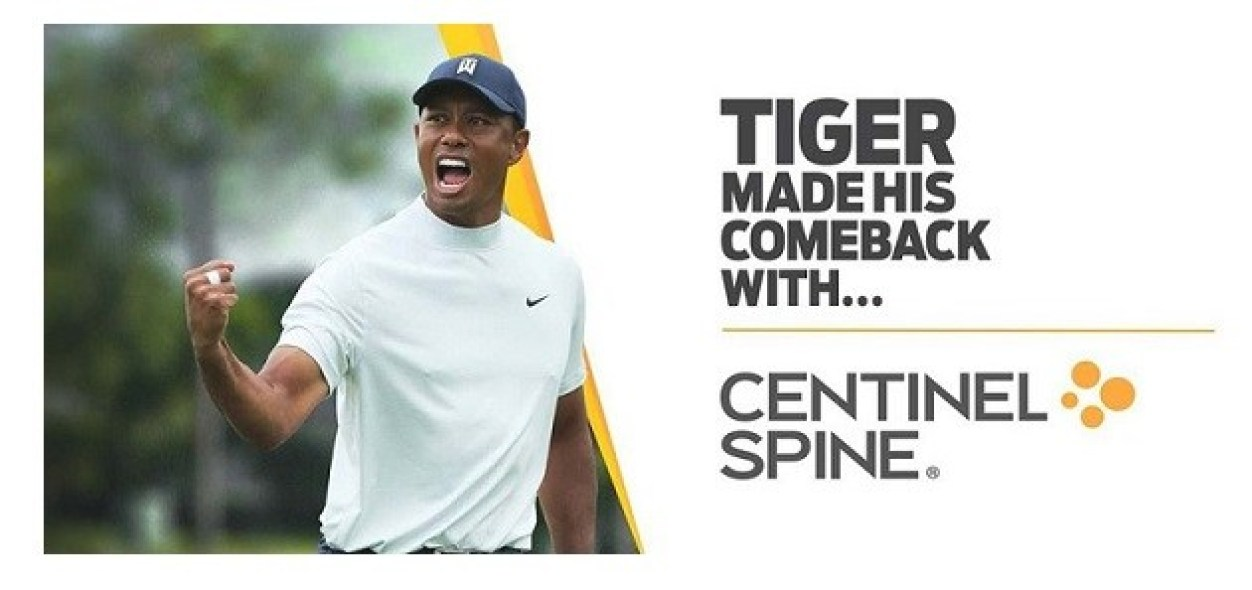 Centinel Spine announces partnership with Tiger Woods