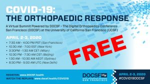 Join the Virtual Summit Meeting of Orthopedists discussing COVID19 – April 2nd and 3rd